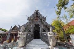 清迈,泰国- 1月17 :美丽的寺庙(Wat Sri素攀武里) 库存图片