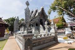 清迈,泰国- 1月17 :美丽的寺庙(Wat Sri素攀武里) 免版税库存照片