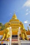 清迈,泰国 Wat Phra那条Sri Chom皮带Worawihan Phra Boromathat Chom皮带菩萨遗物的寺庙 最旧的st 免版税图库摄影