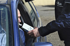 清醒的考试由警察的 库存图片