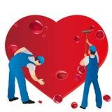 清除心脏出血的二个专业人员 向量例证