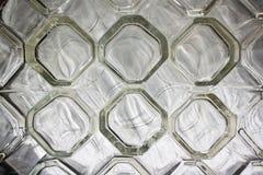 清除水杯玻璃行 免版税库存图片