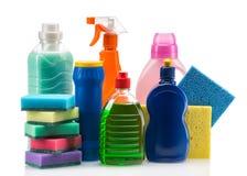 清洁产品塑胶容器 免版税库存照片