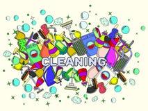 清洁传染媒介例证 免版税库存图片