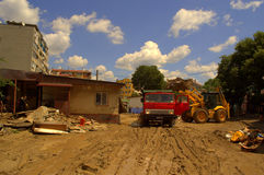 清洁充斥瓦尔纳保加利亚6月19日的аfter 库存图片