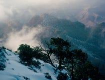 清洁冬天风暴,大峡谷国家公园,亚利桑那 免版税库存照片