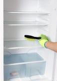 清洁冰箱 图库摄影