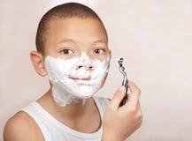 清洗刮脸 免版税库存照片