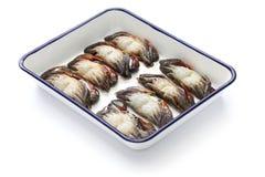 清洗和准备软的壳螃蟹 免版税库存照片