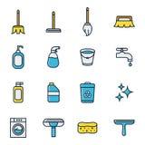 清洁和擦净剂 免版税库存照片