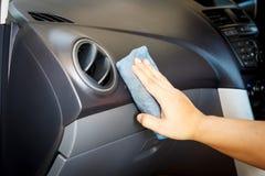 清洗和检查汽车和汽车修理 库存图片