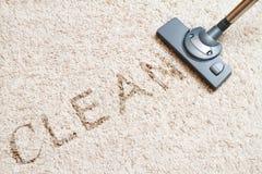 清洁地毯真空吸尘器 免版税库存图片