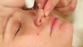 清洁鼻子用超音波技术设备 股票视频