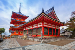 清水寺佛教寺庙在京都,日本 免版税库存照片