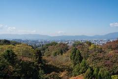 从清水寺寺庙的看法 图库摄影