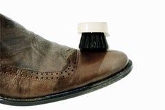 清洗您保留的鞋子 免版税库存照片