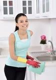 清洗房子 免版税库存图片