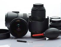 清洗摄影透镜 图库摄影