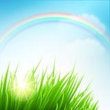 清洗春天惊人的风景 也corel凹道例证向量 图库摄影