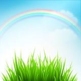 清洗春天惊人的风景 也corel凹道例证向量 库存照片