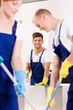 清洁服务在工作 免版税库存照片