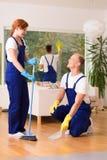 清洁服务详尽的地板 免版税库存照片