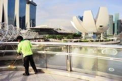 清洁服务,新加坡 库存图片