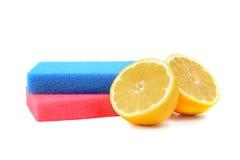 清洗柠檬 免版税库存照片