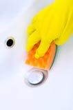 清洁水槽和龙头 免版税库存图片