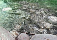 清洗河水 库存照片