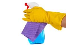 清洁浪花和刮水器 库存照片