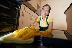 清洁烤箱 免版税库存照片