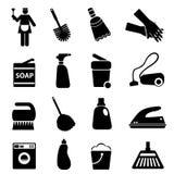 清洁物品和工具 免版税库存照片