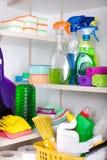 清洁物品在餐具室 库存照片