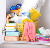 清洁物品存贮 免版税库存图片