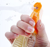 清洁玻璃 免版税库存照片