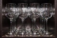 清洗玻璃酒 免版税库存照片