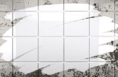 清洗瓦片墙壁卫生间背景 免版税库存图片