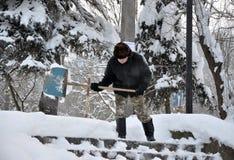 清洗疆土在降雪以后 免版税库存图片