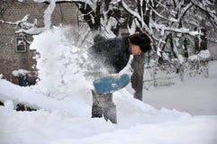 清洗疆土在snowfall_3以后 库存图片