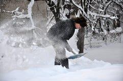 清洗疆土在snowfall_2以后 免版税图库摄影