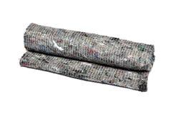 清洗的地板的干燥软的布料 免版税库存照片