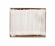 清洗的耳朵的棉花棒包裹 库存照片