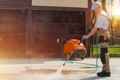 清洁砖路 免版税库存图片