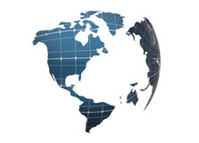 清洁能源地球 免版税库存图片