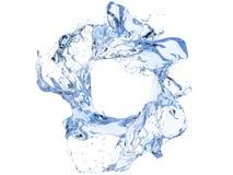清洗蓝色圆水漩涡 免版税库存图片