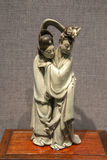 清代陶瓷艺术,蓝色和白色釉`皇家` 免版税图库摄影