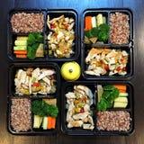 清洗食物午餐盒 免版税库存照片