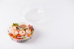清洗食物午餐盒 库存图片