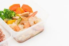 清洗食物午餐盒 免版税库存图片